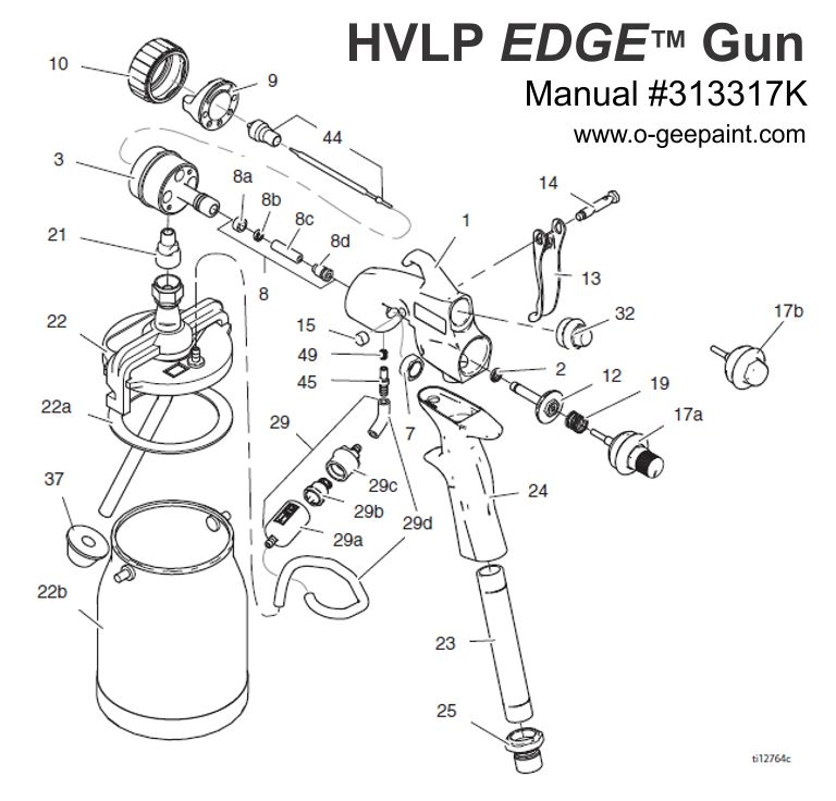 Hvlp Spray Gun Kit >> O-Gee Paint - Edge HVLP Turbine Gun